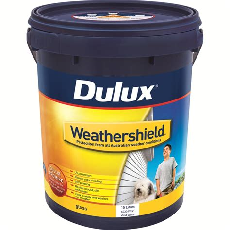 dulux weathershield exterior gloss paint dulux weathershield 15l gloss white exterior paint
