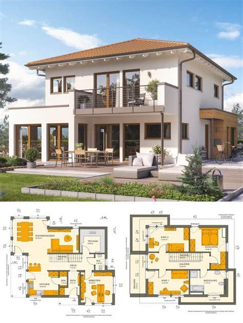 stadtvilla neubau mediterran im landhausstil mit walmdach