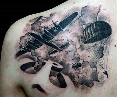 parachute tattoo 70 air tattoos for usaf design ideas
