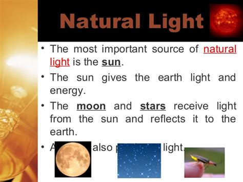 types of light sources light