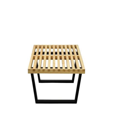 double bench samurai double slat bench modern furniture brickell collection