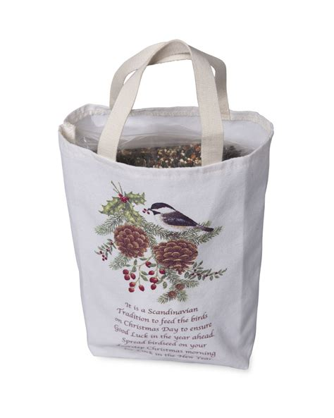 bird seed gift bag 2 lbs of bird seed christmas bird seed