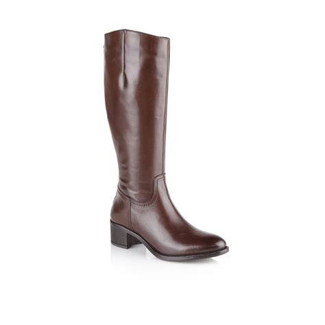 brown leather boots for buy ravel pickering knee high boots in brown