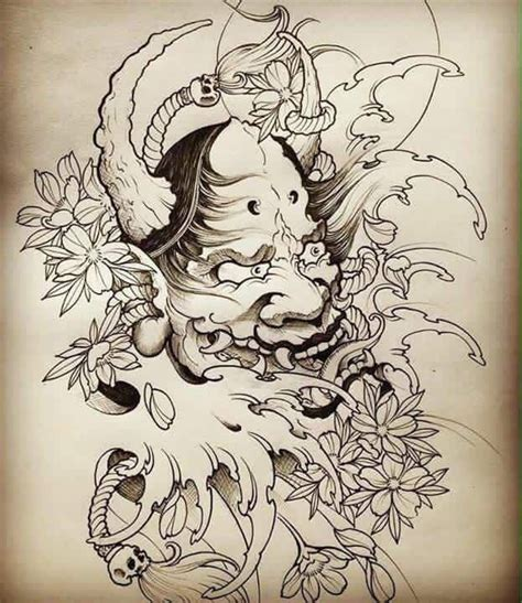 death mask tattoo designs 31 best japanese mask images on