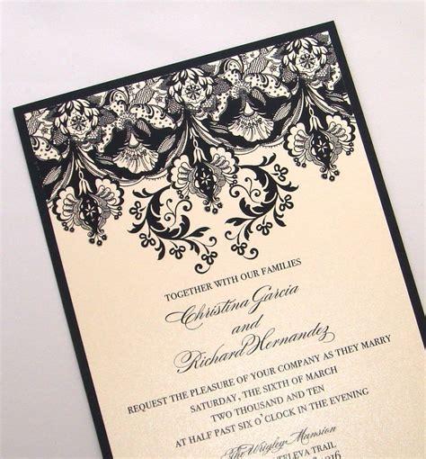 Einladungskarten Hochzeit Schwarz by Ivory Black Wedding Invitations Onewed
