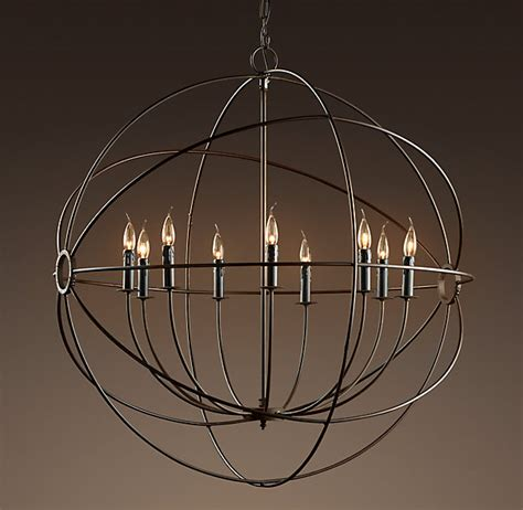 restoration hardware rain chandelier the perfect orb chandelier home office lighting rustic
