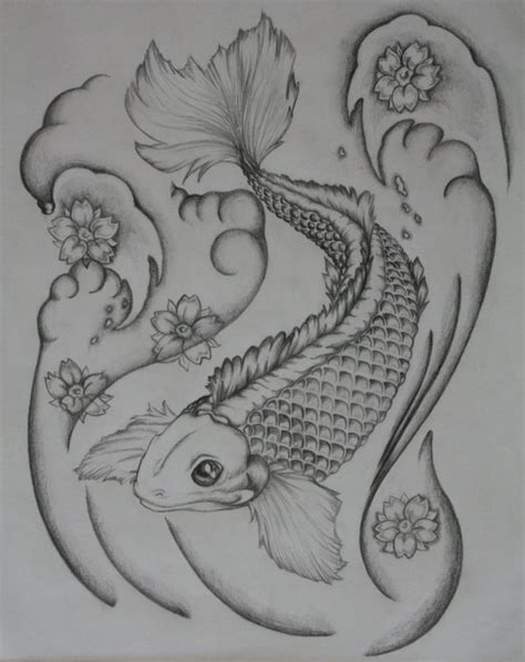 koi fish black and white tattoo designs corey design ideas by houston