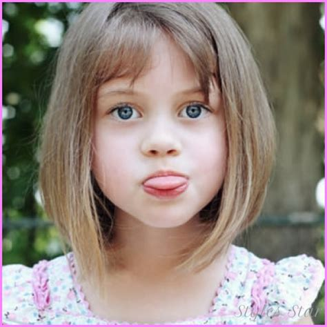 Little girls haircuts with bangs   StylesStar.Com