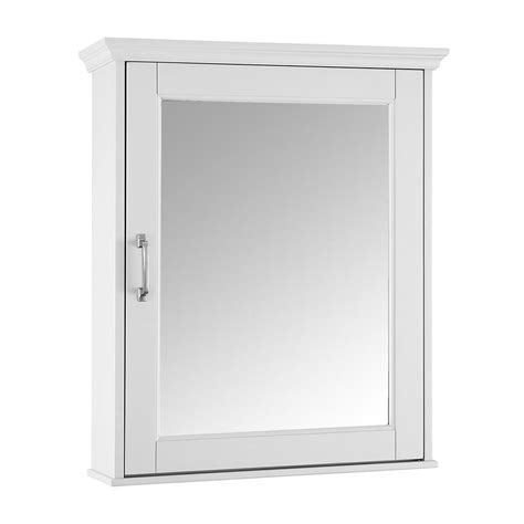 white framed medicine cabinet foremost ashburn 23 in w x 28 in h x 8 in d framed