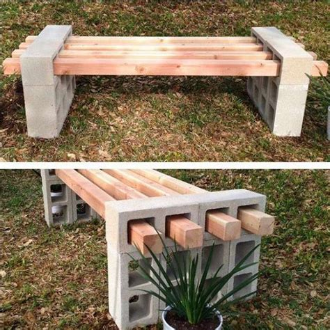 cinder block and wood bench 10 cool ideas to decorate your home with concrete blocks