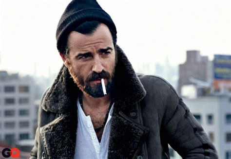 black men wear real full beard remy hair forever a critic justin theroux gq article