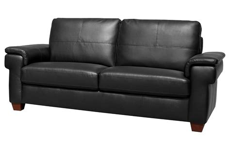 Black Leather 3 Seater Sofa Sale Prada Large 3 Seater Black Leather Sofa Sofas Suite Range Settee Ebay