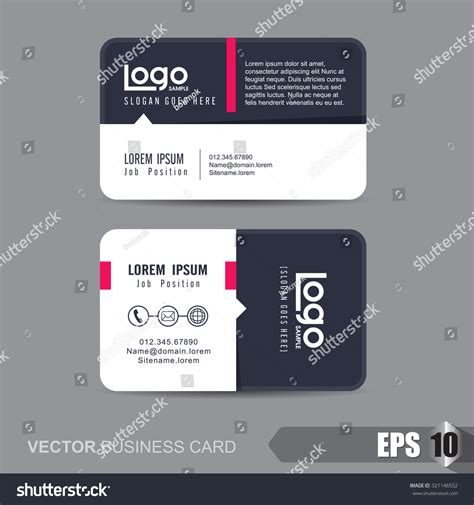 business card template vector business card templatevector illustration stock vector