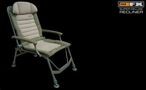 super recliner chair fox fx super deluxe recliner chair bobco fishing tackle