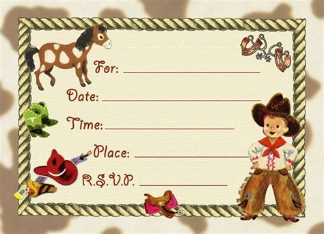 cowboy birthday card templates 74 best dolce stationary images on
