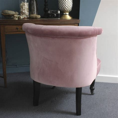 pink chair for bedroom dusky pink velvet button back bedroom chair by ella james