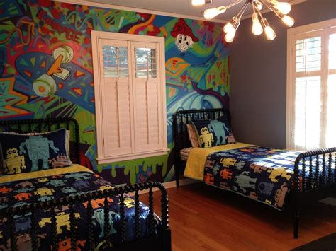 bedroom wall graffiti ideas baroque jenny lind bed trend austin traditional kids image ideas with big boy bedroom