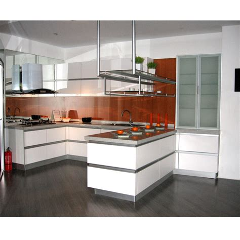 China White Modern Melamine Kitchen Cabinet Photos White Melamine Kitchen Cabinets