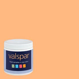shop valspar 8 oz paint sle tangerine at lowes