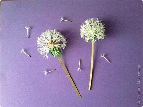 beautiful paper dandelions