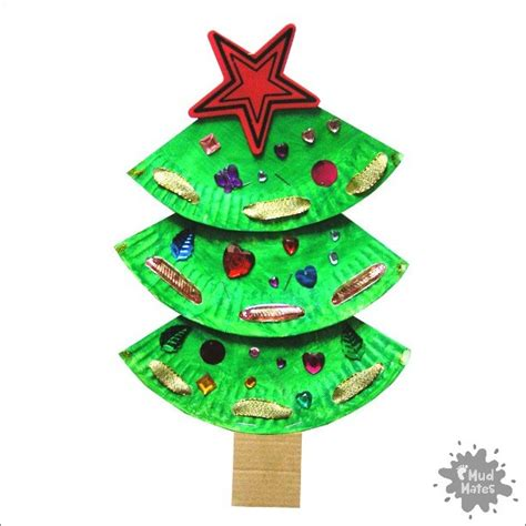 paper tree crafts paper plate tree craft for mud mates