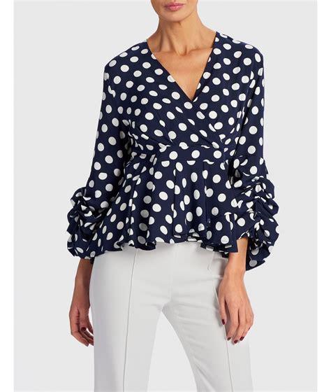 White Polka Dot Blouse Uk by Navy And White Polka Dot Blouse All Clothing Forever