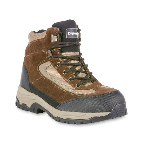 sears boots diehard s mars brown black steel toe work boot wide