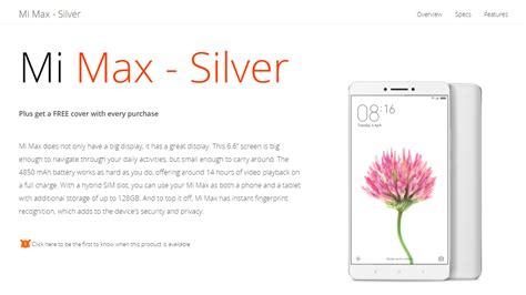 Fleksibel Finger Print Xiaomi Mi Max Original xiaomi mi max phablet is coming to south africa