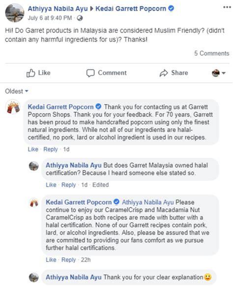 konfirmasi garrett popcorn soal rumor tidak halal