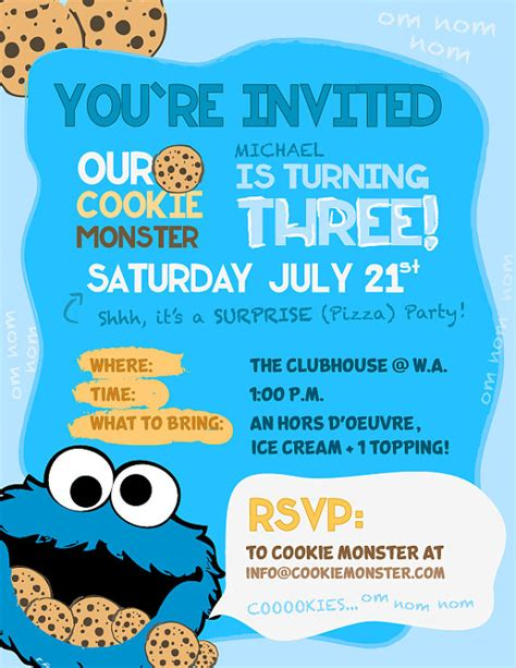 cookie invitation template cookie invitations by dcstudios on etsy 15