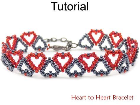 heart pattern bracelet tutorial beaded heart bracelet with seed beads jewelry making
