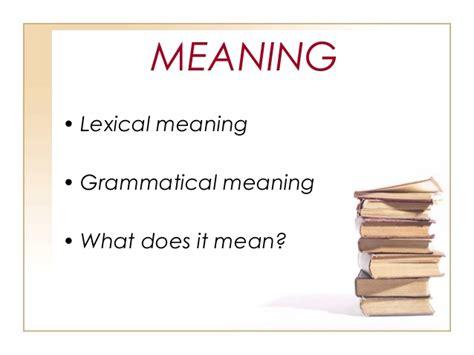 lexical pattern meaning teaching grammar