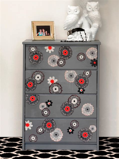 Decoupage Dresser With Fabric - how to update furniture with fabric how tos diy