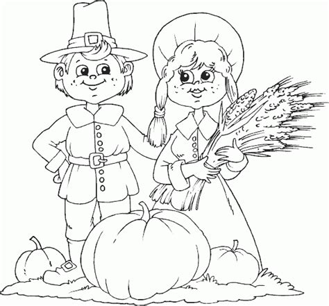 Pilgrim Harvest Coloring Page Coloring Com Harvest Coloring Pages Printables
