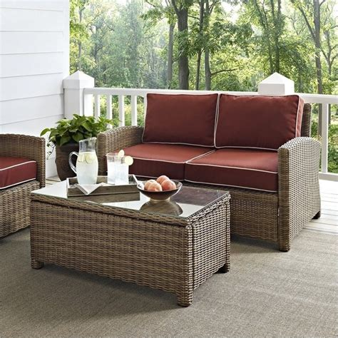crosley furniture bradenton 2 outdoor wicker seating