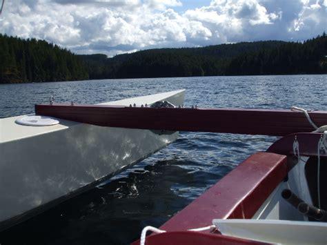 trimaran under sail on building and sailing a seaclipper 16 trimaran small