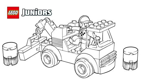 lego junior coloring pages lego 174 juniors racetrack tow truck coloring page coloring