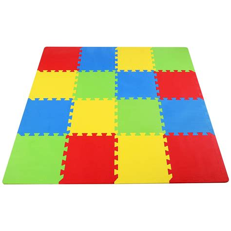 Play Mat Squares by Foam Floor Play Interlocking Mat Puzzle 16 Sqft 12
