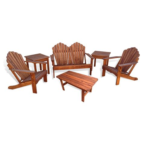 adirondack loveseat adirondack chair 6 pc combo