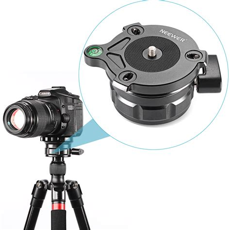 Tripods And Monopods With 3 8 neewer tripod leveling base with offset level for