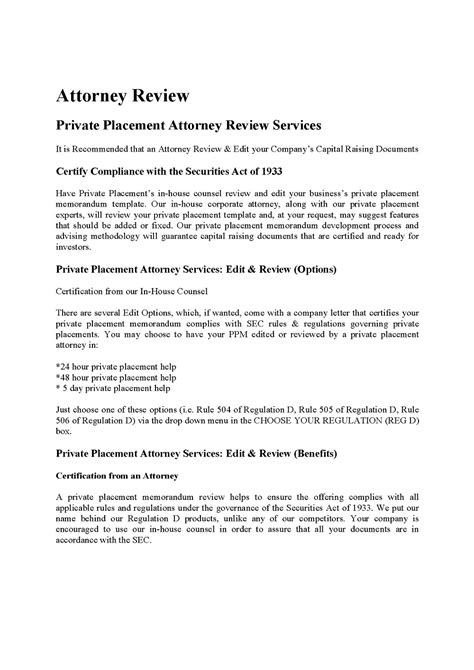 Real Estate Fund Ppmprivate Placement Memorandum Placement Memorandum Template