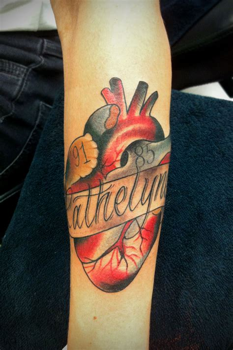 traditional heart tattoo neo traditional