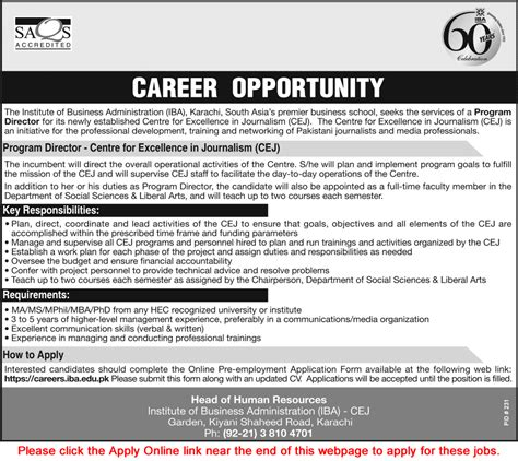 Mba Ms Journalism by Institute Of Business Administration Karachi 2015