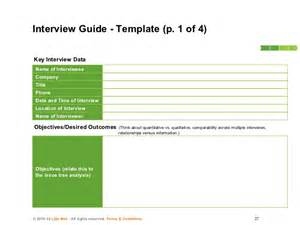 guide template qualitative research how to conduct consulting interviews