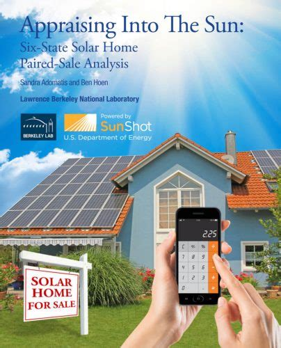 solar increases home value according to the us department