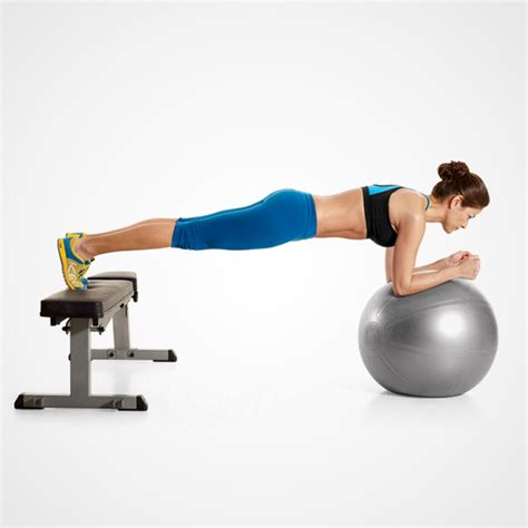 plank with feet on bench the once a week all you need abs workout