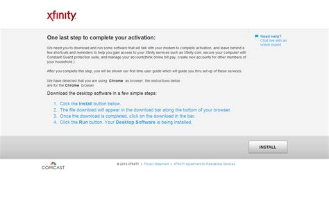 Comcast Self Activation Page Techsupport Walled Garden Comcast
