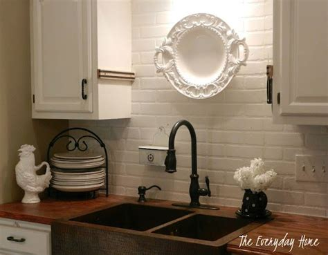 faux brick backsplash in kitchen 1000 images about accent walls metal wood brick on faux brick walls accent