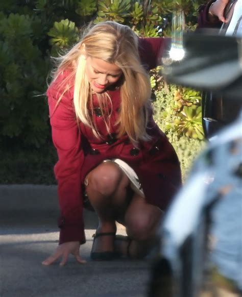 Reese Witherspoon With The Big Black Bay by Reese Witherspoon On The Set Of Big Lies In