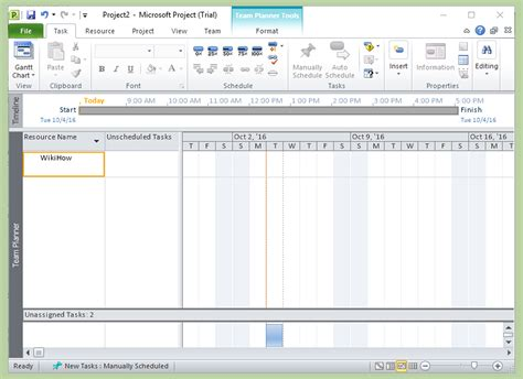 Microsoft Project how to add a resource in ms project 10 steps with pictures